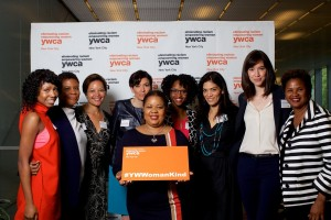 Danielle Moss Lee with YWCA event guests (L-R) Samantha Black, Alondra Nelson, Kim Keating, Jeanne Zaino, Britney Whaley, Lauren Gomez, Rachel Hoat and Renee M. Brown.