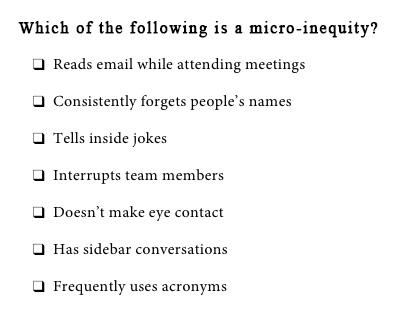 Micro-Inequity Quiz 1